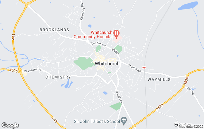 Map for Halls Estate Agents, Whitchurch