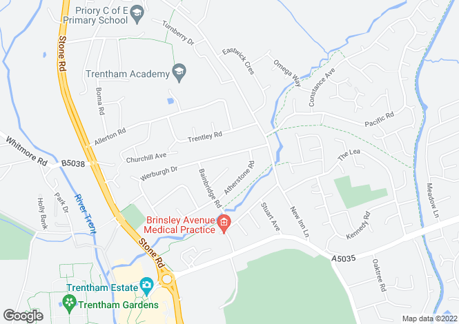 Map for 51, Werburgh Drive, Trentham, Staffordshire