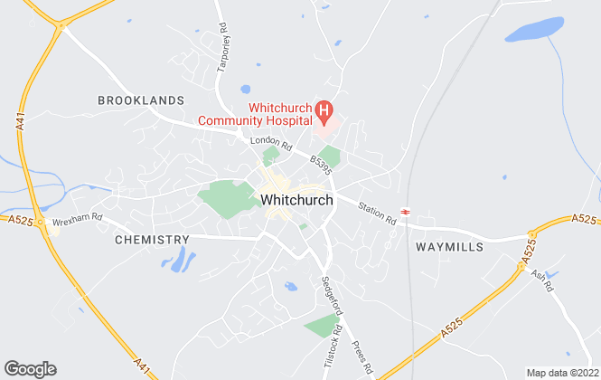 Map for Reeds Rains , Whitchurch
