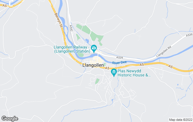 Map for Wingetts, Llangollen
