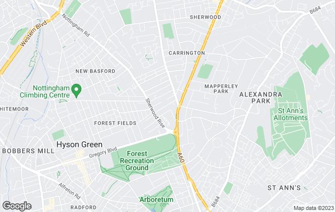 Map for NCHA Sales, Nottingham
