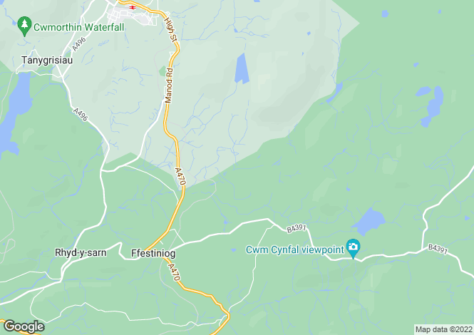 Map for Cwm Teigl,