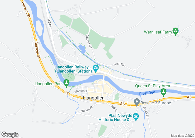 Map for Llangollen