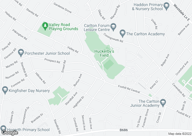 Map for Valley Road,