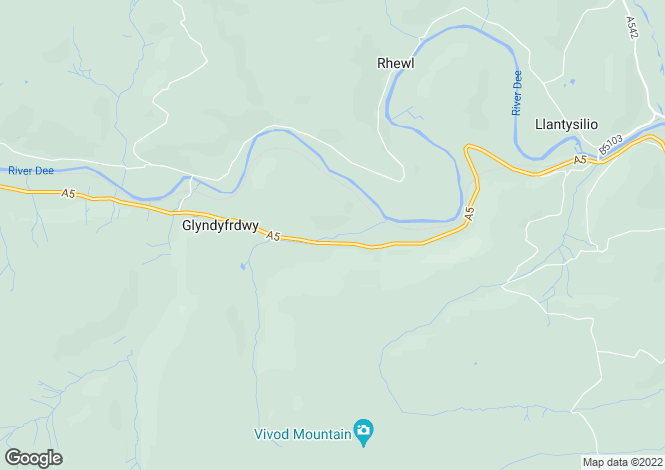 Map for Original Butterfly Man House, Glyndyfrdwy, Corwen
