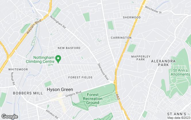 Map for Thomas James Estate Agents , Sherwood Rise