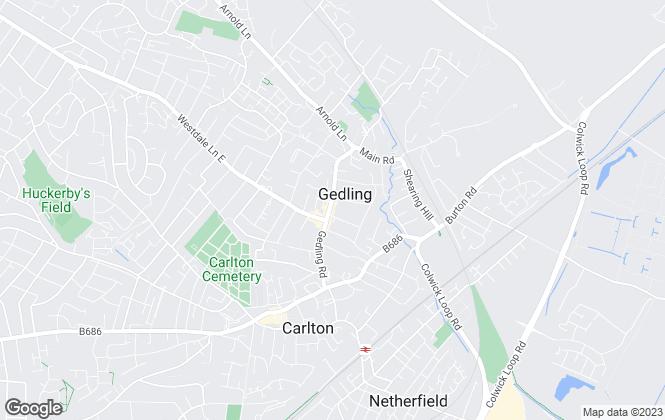 Map for Lesley Greaves Estate Agents, Gedling