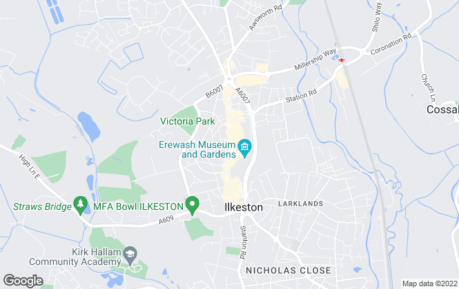 Map for Renshaw Estates, Ilkeston