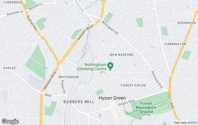 Map for Move 2 B , Nottingham