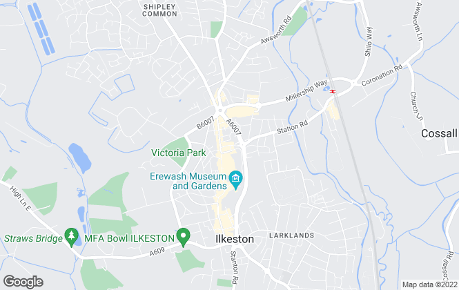 Map for Intus Lettings, Ilkeston