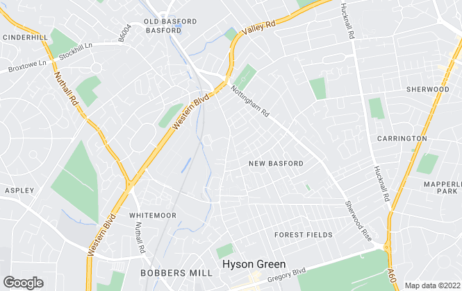 Map for John Pye Property, Nottingham