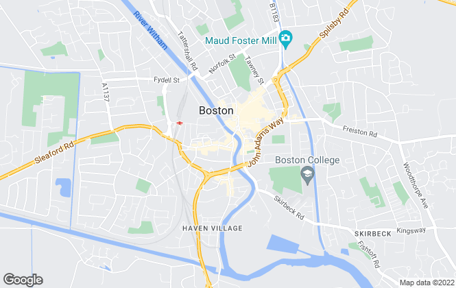 Map for Vendoors Estate Agents, Boston
