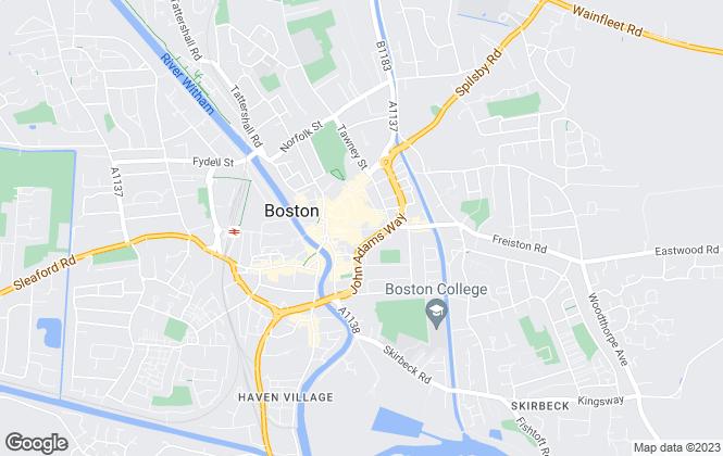 Map for Drurys, Boston - Lettings