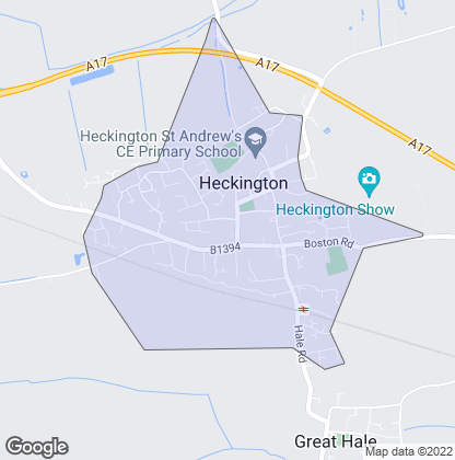 Map of property in Heckington