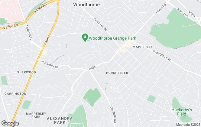 Map for Royal Lets , Nottingham