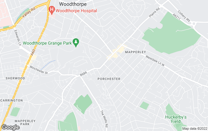 Map for DMW Property Services, Mapperley