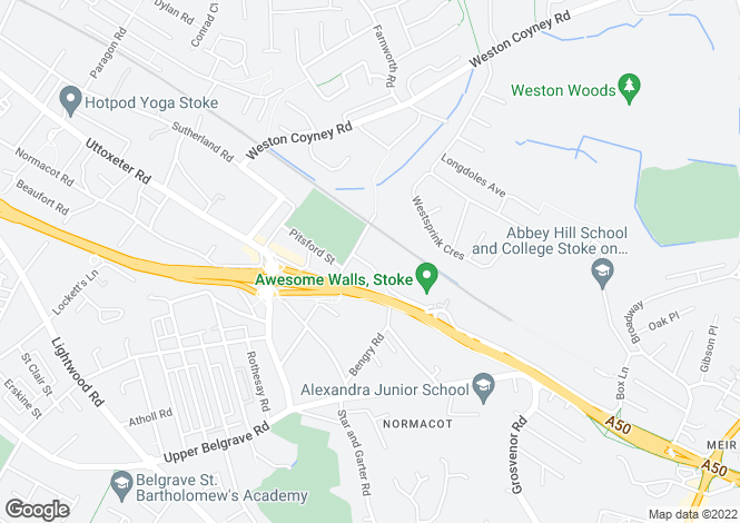 Map for Sefton Road, Longton, Stoke on Trent