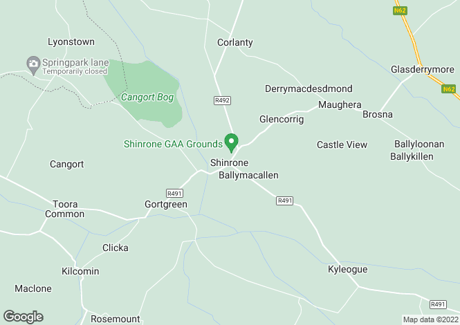 Map for Tubbird, Shinrone, Offaly