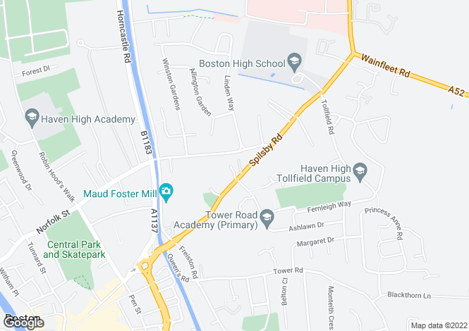Map for Thomson Court, Spilsby Road, PE21