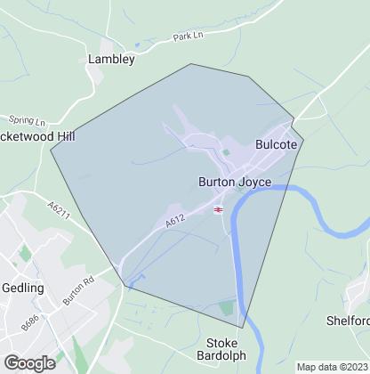 Map of property in Burton Joyce