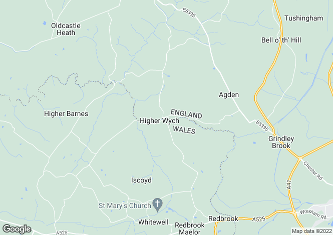 Map for Higher Wych, Malpas, SY14 7JR
