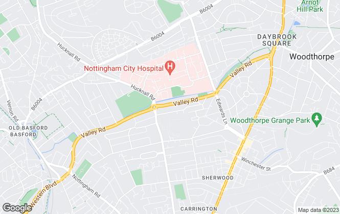 Map for Aston Woolf, Nottingham