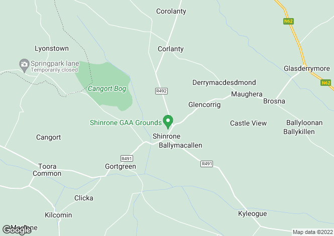 Map for Shinrone, Birr, Offaly