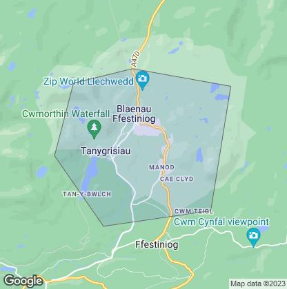 Map of property in Blaenau Ffestiniog
