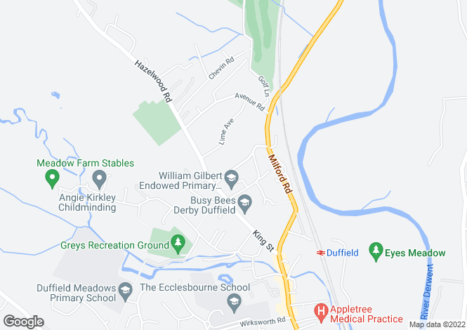 Map for Castle Hill, Duffield, Derby, DE56 4EA