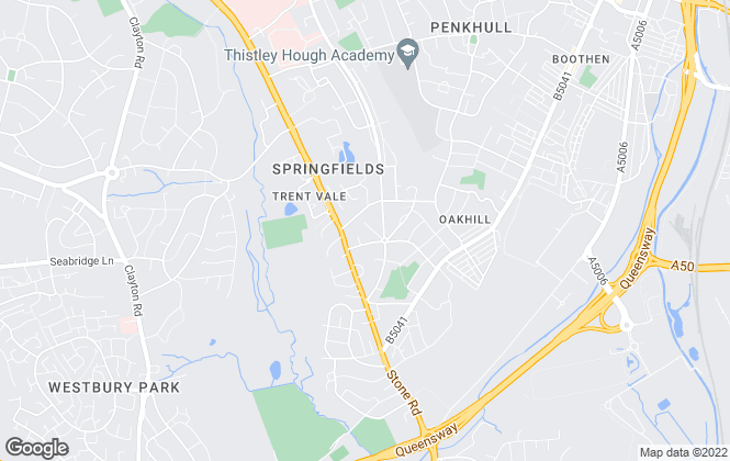 Map for Critchlow Estate Agents, Trent Vale
