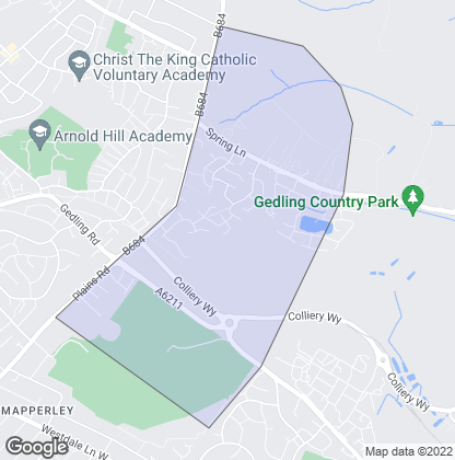 Map of property in Mapperley Plains