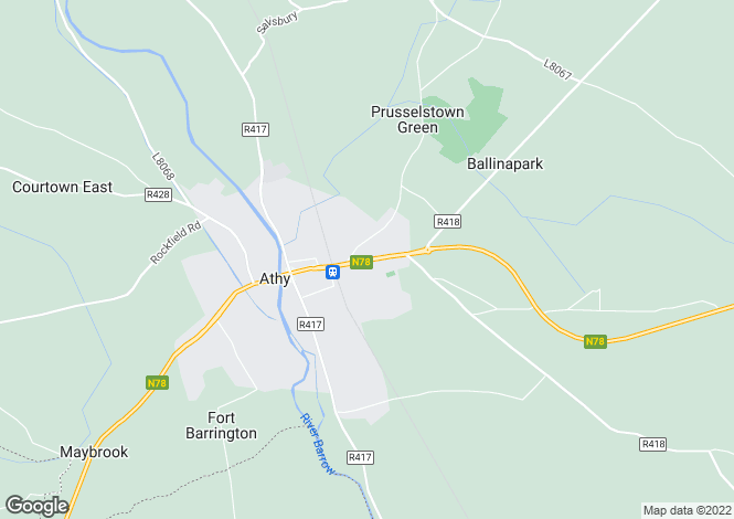 Map for Dublin Road, Athy, Kildare