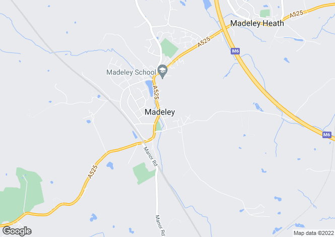 Map for The Holborn, Madeley, Crewe, Staffordshire