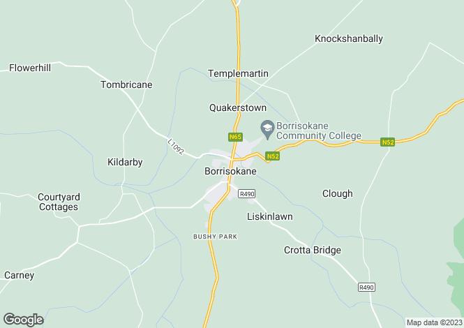 Map for The Central, Main St., Borrisokane, Tipperary