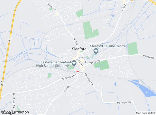 Map for Escritt Barrell Golding, Sleaford