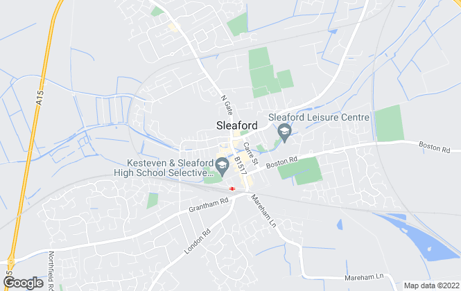 Map for Newton Fallowell, Sleaford, Lettings