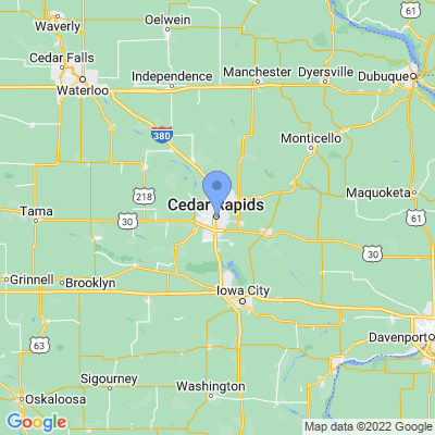 Map of truck driving jobs in Cedar Rapids, Iowa