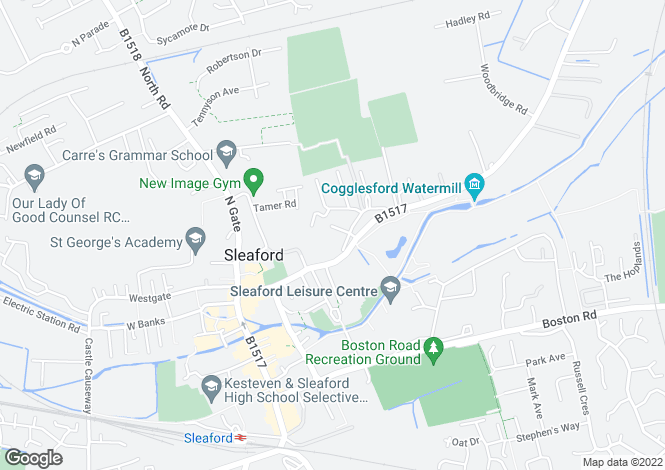 Map for Duke Street, Sleaford, NG34