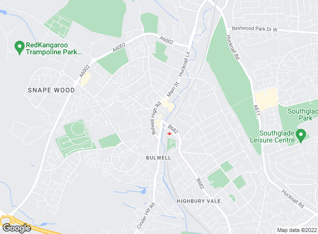 Map for Nottingham Property Services, Bulwell