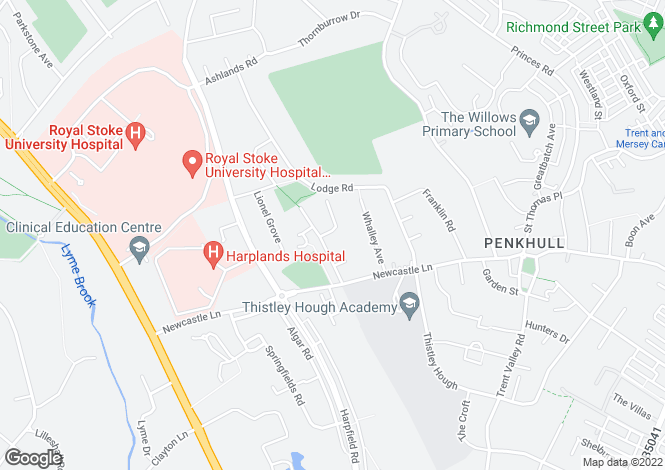 Map for Simonburn Avenue, STOKE-ON-TRENT, Staffordshire