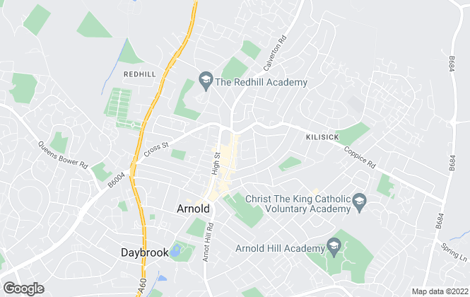 Map for Walton & Allen Estate Agents Limited, Arnold