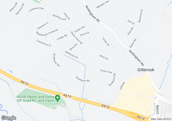 Map for Thistle Close, Newthorpe, Nottingham