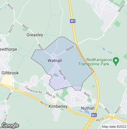 Map of property in Watnall
