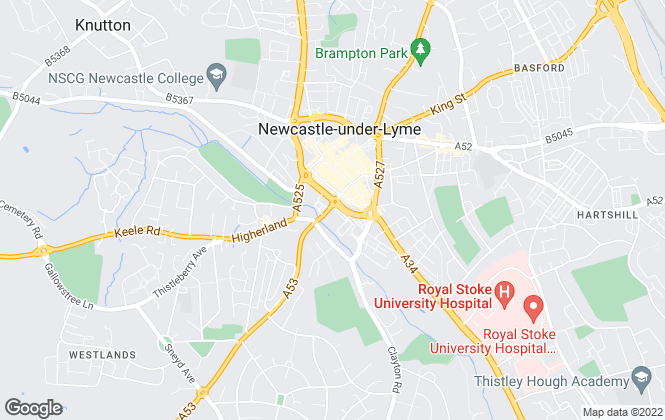 Map for Heywoods, Newcastle-under-Lyme