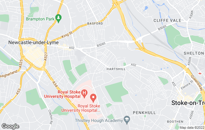 Map for Leaders , Hartshill