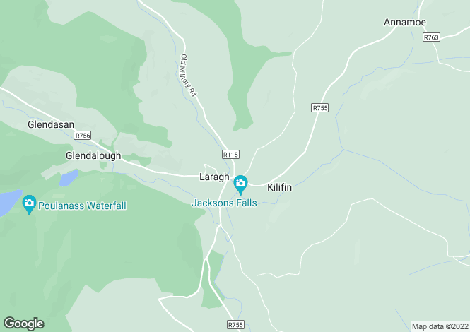 Map for Laragh, Wicklow