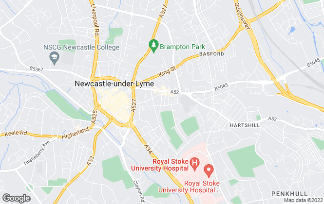 Map for Rory Mack Associates Ltd, Newcastle Under Lyme
