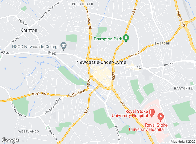 Map for YOUR MOVE, Newcastle Under Lyme
