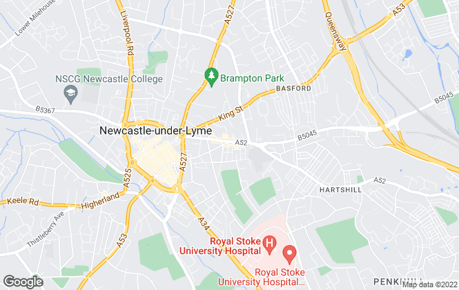 Map for Bramptons, Newcastle-under-Lyme