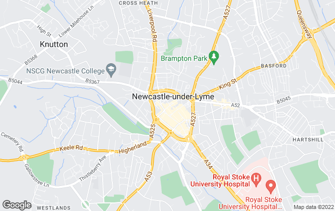 Map for Bridgfords, Newcastle under Lyme